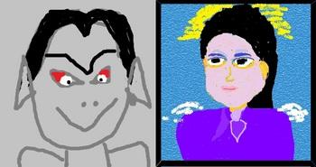 女神対悪魔のイメージ画